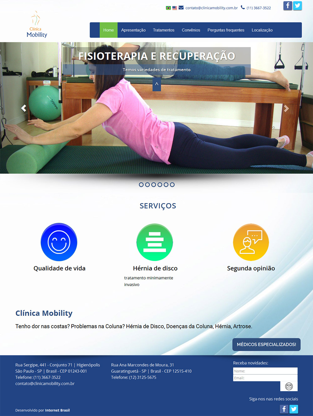 Site – Clinica Mobility