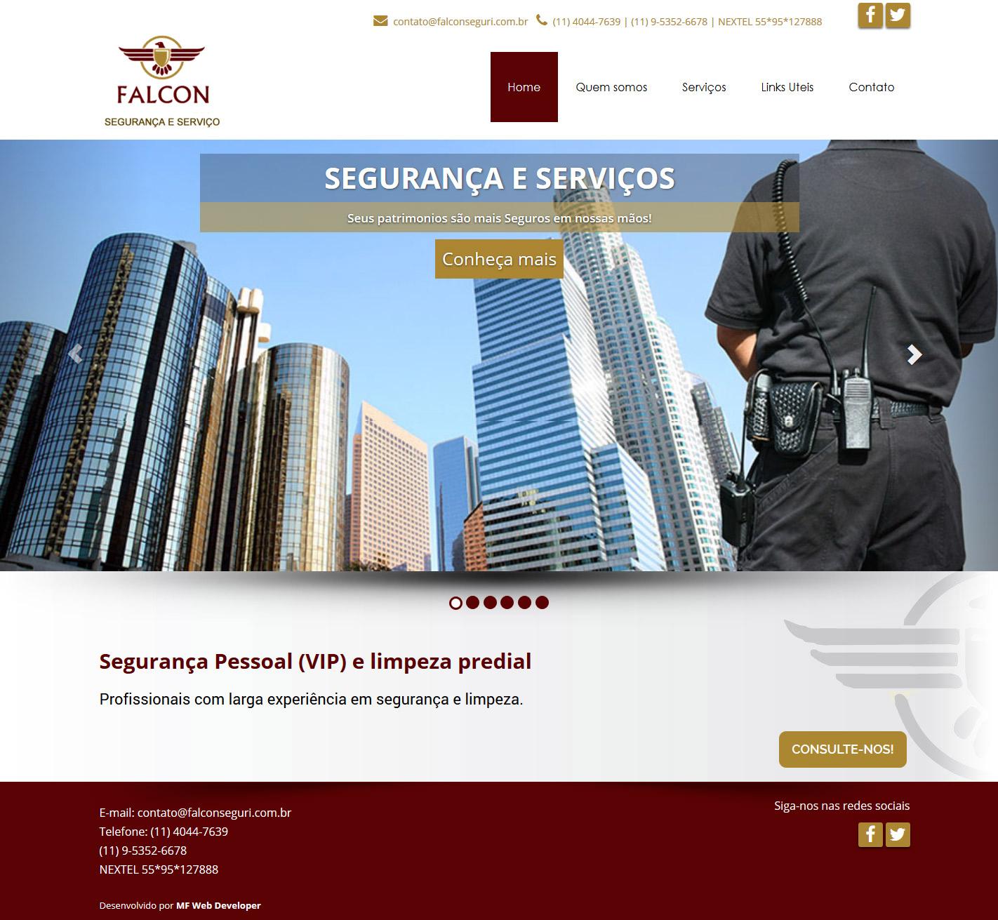 Site – Falcon Segurança & Serviços