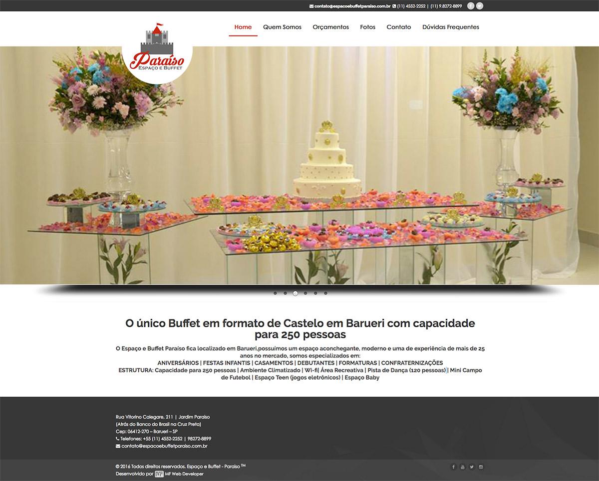 Site – Espaço & Buffet Paraiso